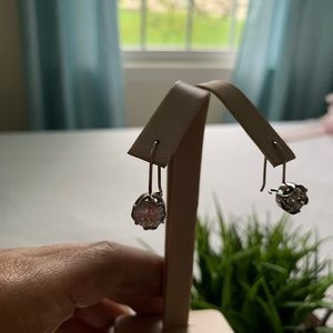 Silpada cubic zirconia and sterling earrings